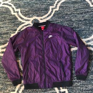 Men's Nike Full Zip Windbreaker Jacket Sz Med EUC